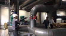 Фото: Проведение гидроиспытания технологических трубопроводов