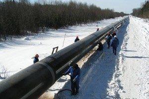 Фото: гидроиспытания в зимнее время
