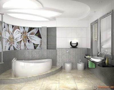 Фото: ванная комната совмещенная с туалетом красивый ремонт