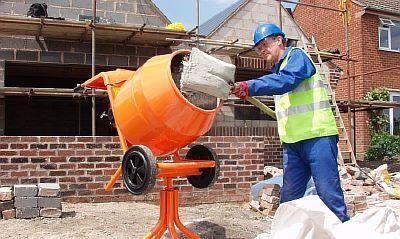 Foto - Förberedelse av cementbetongblandning