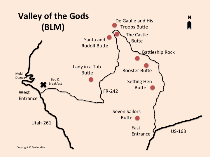 Valley of the Gods Map - Truck Camper Adventure