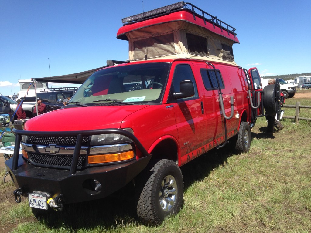 Sportsmobile class B at 2015 Overland Expo