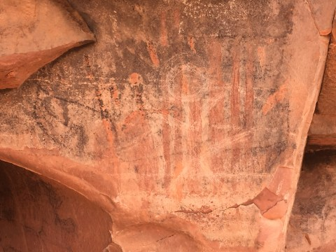 Pictograph at Honanki ruins.