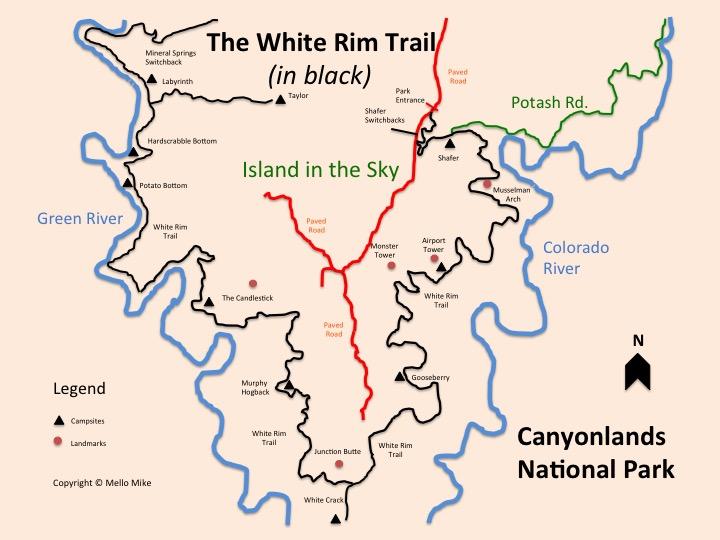 Canyonlands White Rim Trail Map - Truck Camper Adventure