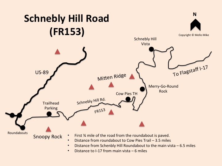 Schnebly Hill Road Map - Truck Camper Adventure