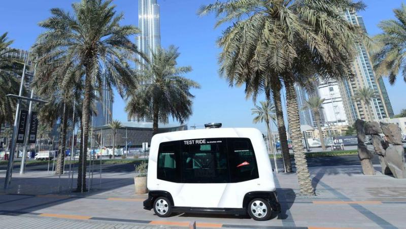 Self-driving car in Dubai