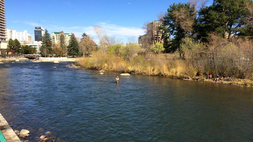 April 9, 2014: Enjoying the Truckee River