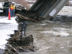 """Flood damage to public facilities after 2005 """"mini"""" flood on the Truckee River"""