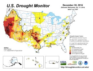 December 30, 2014 Drought Monitor Map