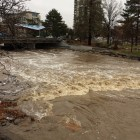 Truckee River at 4,000 CFS December 10, 2016 during Sierra rains.