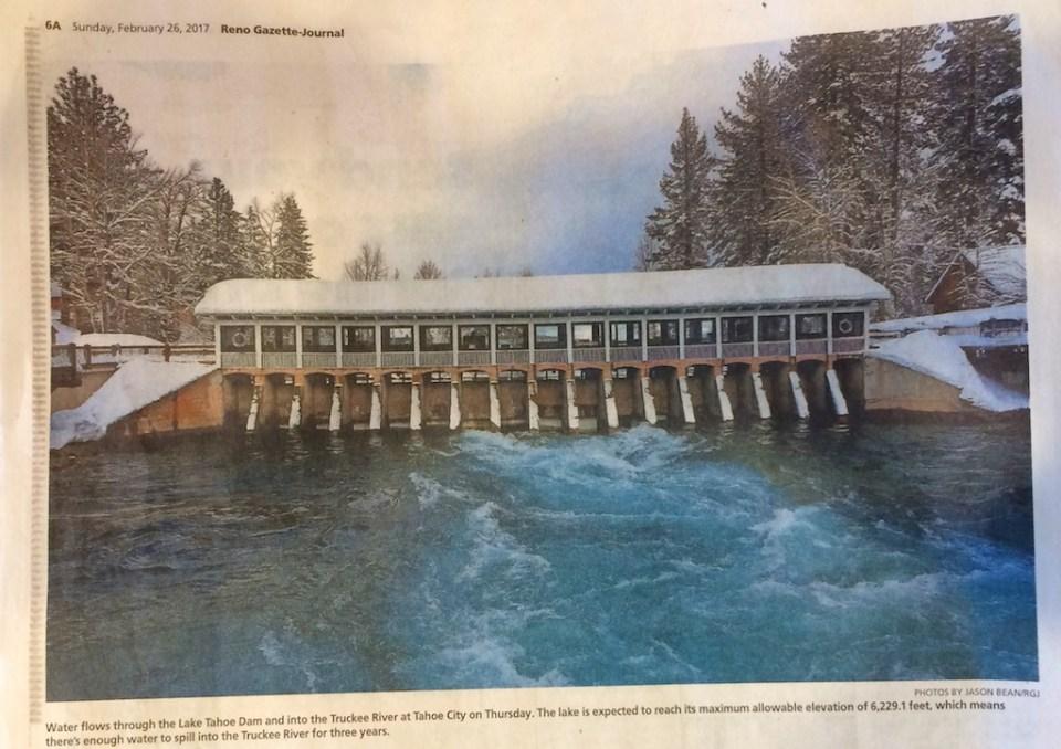 Reno Gazette-Journal Photo in printed newspaper 2-26-17