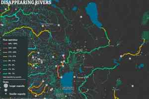 Example display from the Disappearing Rivers Project interactive map (click for full sized example)