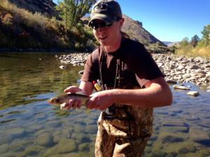 Mountain whitefish caught by Dano in Mayberry Park, Reno, Oct 2014.  Photo: GeeVee @bravofour3