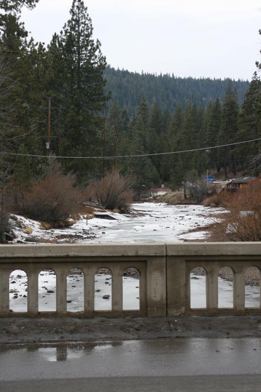 From Fanny Bridge, looking downstream. Tahoe City, CA, Jan 9 2015.