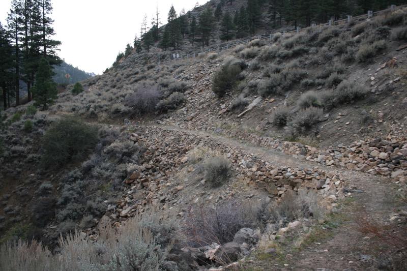The Tahoe-Pyramid Bikeway trail, heading toward Farad. Nov 22, 2015.