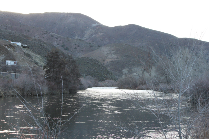 The Truckee River in Lockwood Park. Feb 22, 2016.