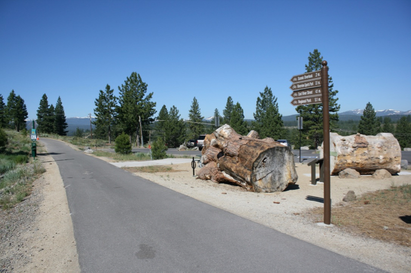 The beginning of the Truckee River Legacy Trail, Glenshire, CA