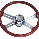 Steering Wheel 4 Spoke Straight Chrome Truckerstoystore Com Au