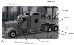 Parts of a Semi Truck Diagram   TruckFreighter