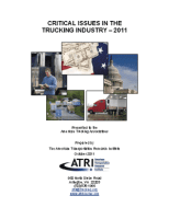 Critical Issues in the Trucking Industry - 2011