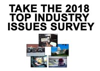 Take the 2019 Top Industry Issues Survey