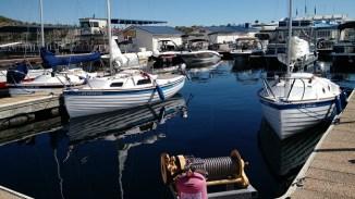 Sage Marine boats in the marina.