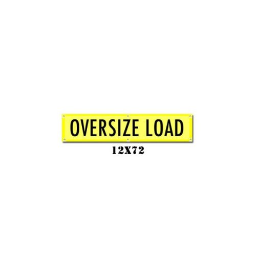 Oversize Load Banner with Brass Grommets (irongear)