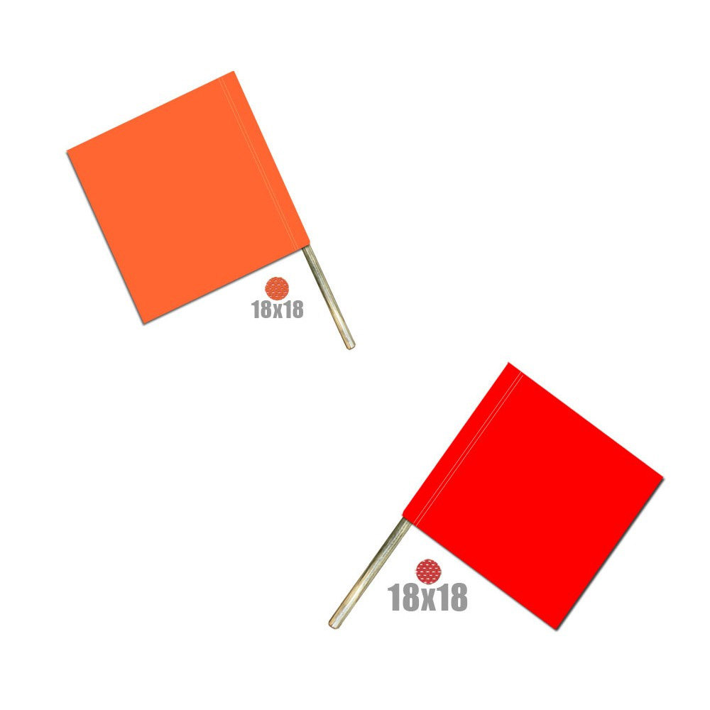 Safety Flag on Wooden Dowel (irongear)