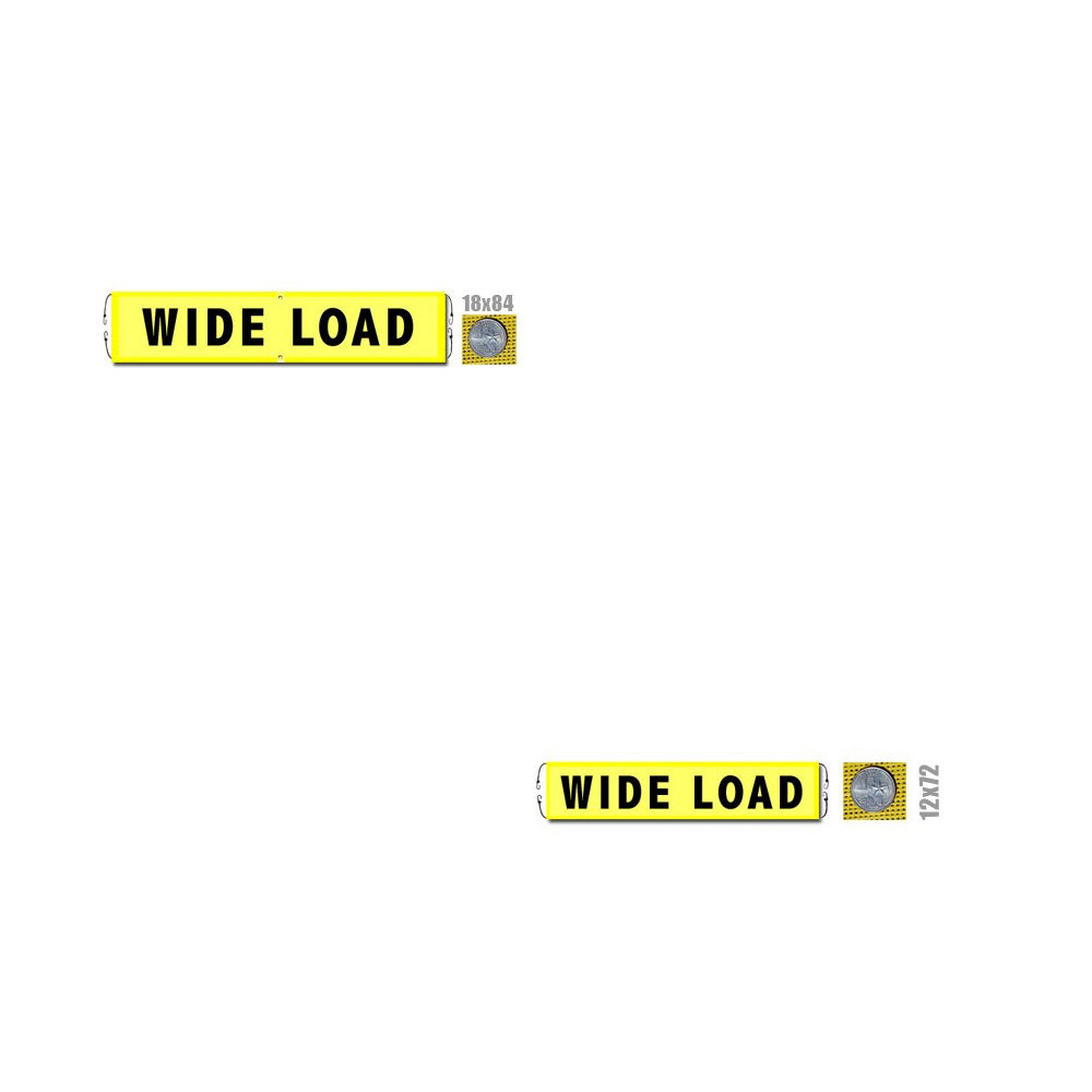 Wide Load Banner w/ Bungee Cords (valuegear)