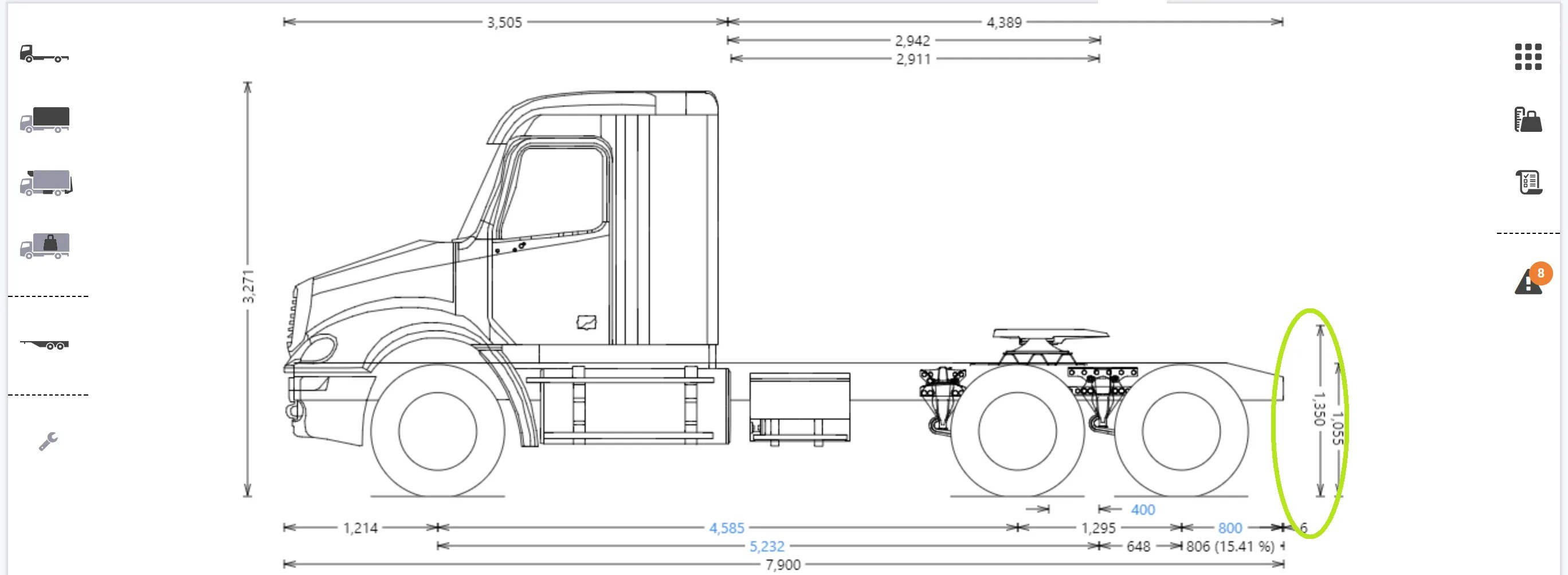 How To Measure Truck Tractor Wheelbase