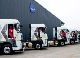 daf trucks in a row at babcock transport solutions