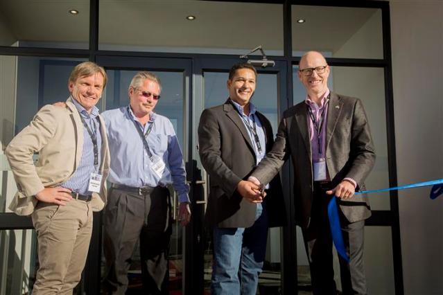 Volvo trucks management at the new Flagship dealership