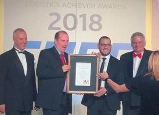 Trackmatic with Logistics Achiever Awards (LAA) Gold Award from