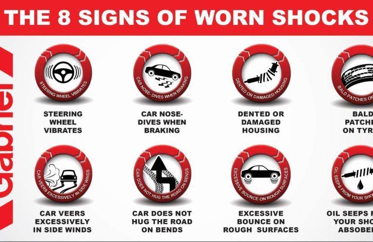 8 signs of worn Shock absorbers