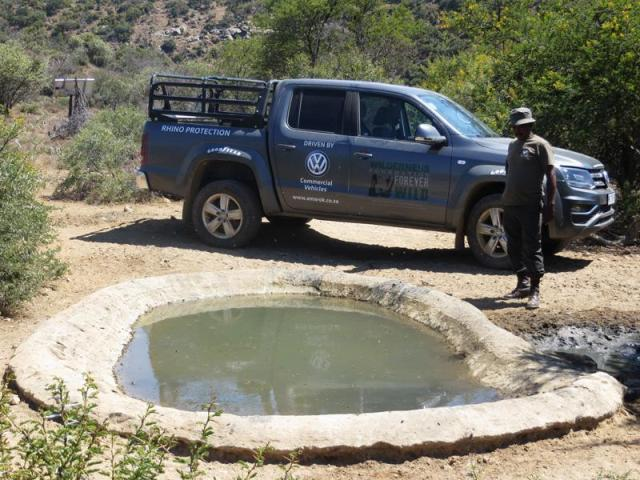 Six VW Amaroks are being used for on-the-ground protection of rhino populations