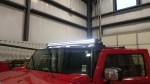 "Installing 2 61.63"" Single row LED light bars to an H2 Red Hummer"