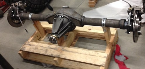 Toyota rear axle that will be going under the Tracota