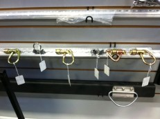 Tie-Down rail system on display in our Showroom