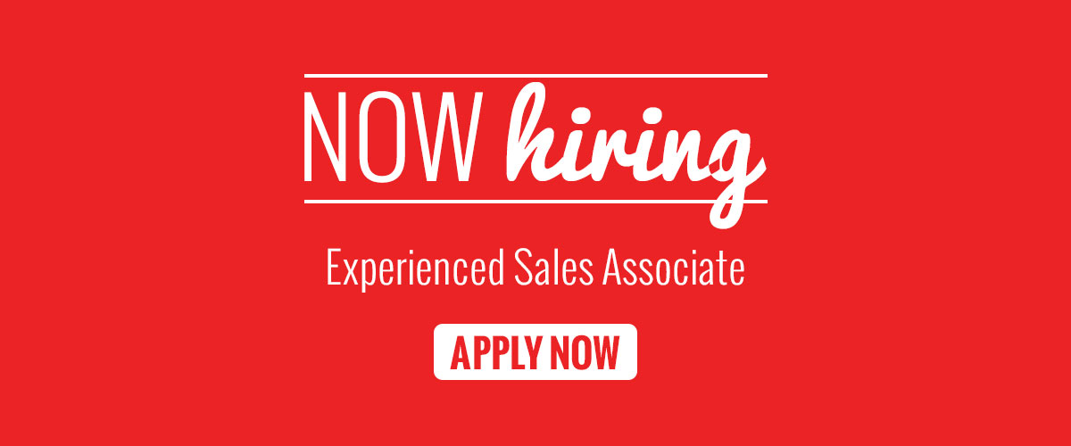 Now Hiring: Experience Sales Associates