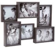 Marco de fotos con fotografías familiares.
