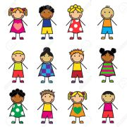 23317214-Cartoon-children-of-different-nationalities-on-a-white-background--Stock-Vector