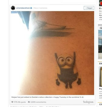 #FRIKINEWS: Beckham se tatua un Minion porque le gustan a su hija  Foto de %title