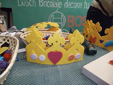 Manualidades Bosch corona cumpleaños