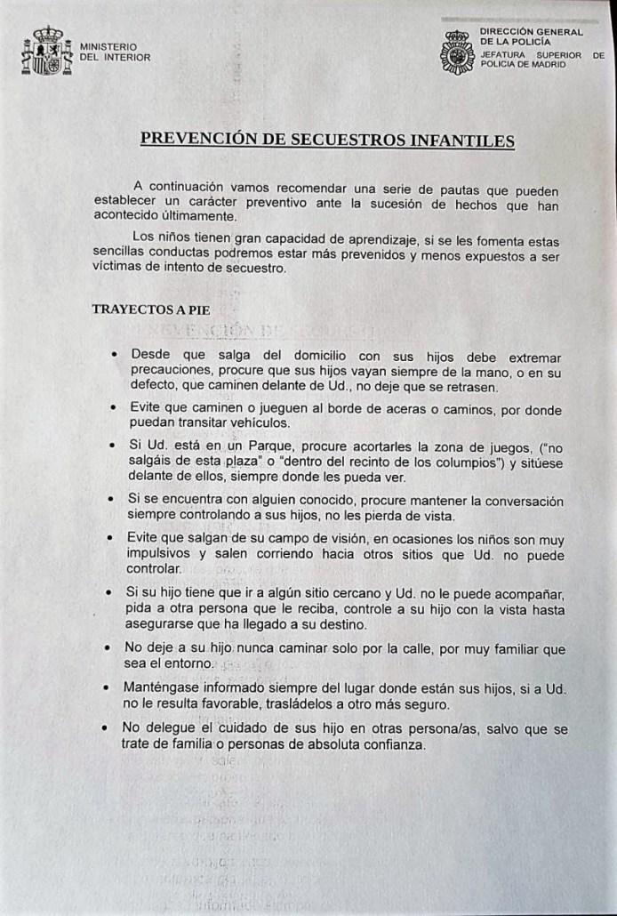 RECOMENDACIONES PARA PREVENCIÓN DE SECUESTROS INFANTILES  Foto de %title