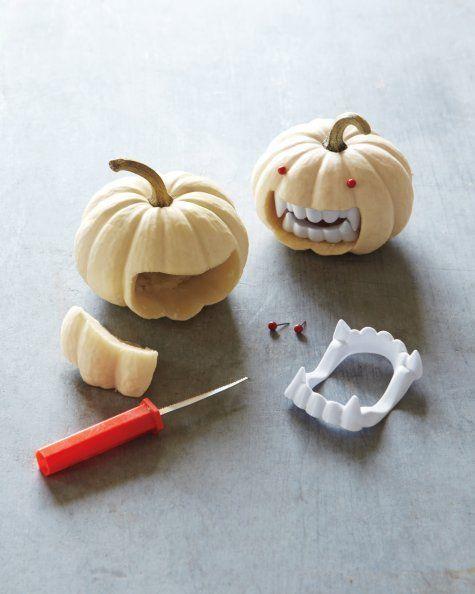Decoración para Halloween casera: calabaza con dientes