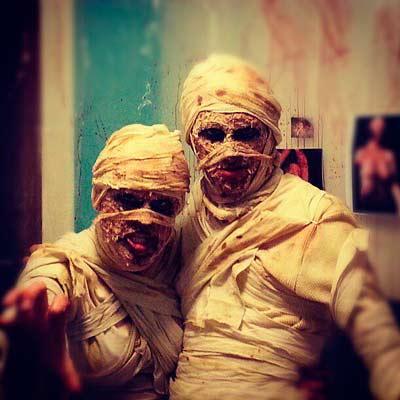 disfraz de halloween casero: momia diy