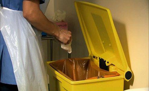 Cubo de la basura sin insectos