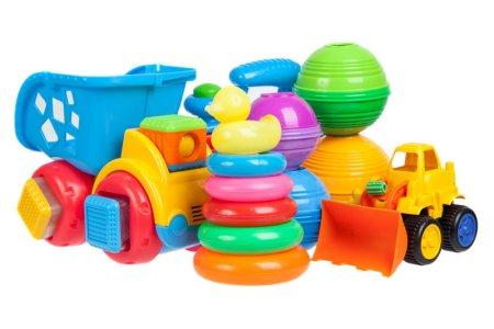 Limpiar los juguetes de plástico