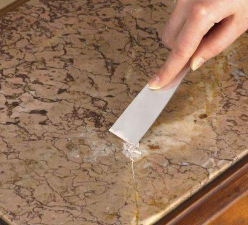 Reparar mármol rajado de encimera