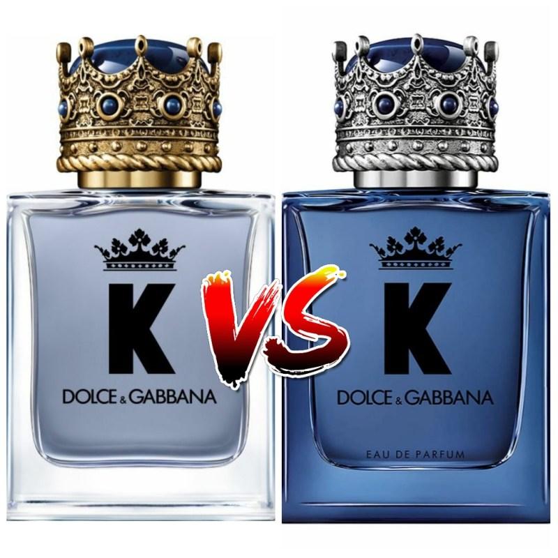 K eau de toilette VS K Dolce & Gabbana eau de parfum